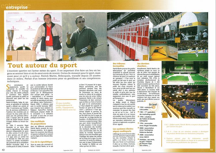 Tout autour du sport - TERRAINS DE SPORTS Septembre 2009
