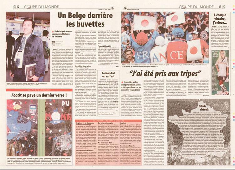 Un belge derrière les buvettes de la Coupe du Monde